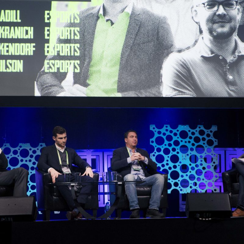 REPRO FREE***PRESS RELEASE NO REPRODUCTION FEE*** One Zero - The Sports and Tech. Conference, RDS, Dublin, Ireland 21/10/2016 eSports - The Business of eSports Panel Discussion (L-R) Hannes Kranich, eSport Specialist for DraftKings, Jonny Madill, Sports lawyer at Sheridans of London and Kurt Pakendorf, Chief Strategy Officer & General Counsel at FACEIT with host Geoff Wilson Mandatory Credit ©INPHO/Gary Carr